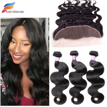 Brazilian Virgin Hair 3 Bundles With Frontal Closure Brazilian Body Wave With Frontal Closure Lace Frontal Closure With Bundles