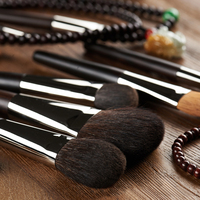 Professional Makeup Brushes Set Natural Hair Powder Blush Foundation Eye Shadow Eyeliner Brush Cosmetic Kits Tools