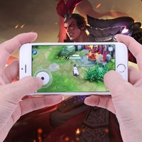 White 2X Suction Cups Touchscreen Phone Tablet Gamepad Controller Joystick Sensitive for All Touch Screen Devices