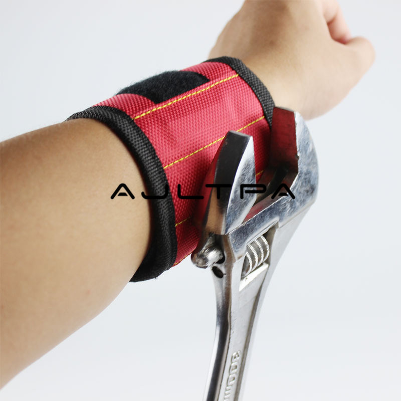 100Pcs Magnetic Wristband Strong Magnets Hand Bracelet Pouch Bag Electrician Tool Bag For Holding Screws H4517