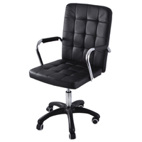 Office Chair Office Furniture Height Adjustable Rotatable Computer Chair Armrest Leather Padded Meeting Conference Ergonomic
