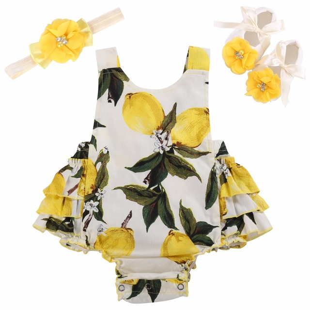 11690307ee84 Floral New Born Baby Infant Girl Clothes Set Summer Photography Cotton Newborn  Clothing Baby Girl