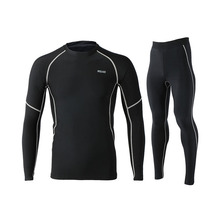 Winter Thermal Fleece Running Set for Men Jogging Suit Long Sleeve Cycling Base Layers Gym Sports Clothes Training Sportswear men winter sports cycling base layers thermal underwear men for ski hiking snowboard