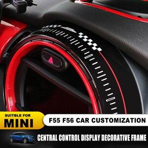 Image 3 - استبدال إطار عرض ملصق غطاء لسيارات BMW Mini كوبر F55 F56 سيارة مركز التحكم الشاشة اكسسوارات الإطار Jcw السيارات يغطي