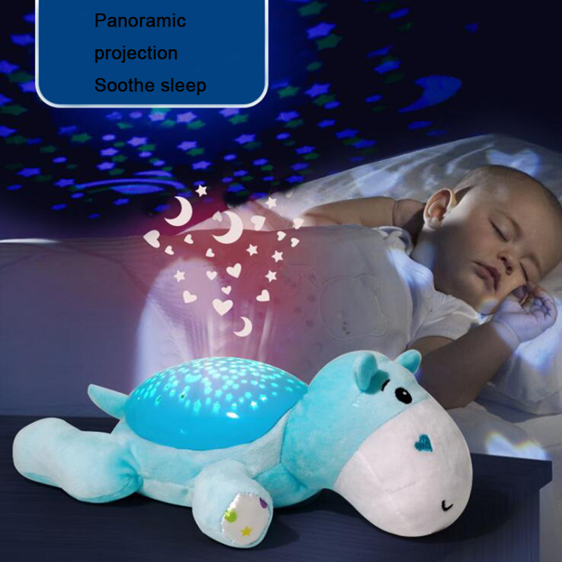 Winco Baby Sleep Plush Toys Led Lighting Stuffed Animal Led Night Lamp With Music Star Projector Light Baby Toys For Children #2