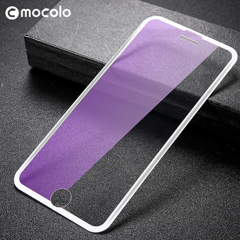 Original Mocolo 3 in 1 Screen Protector Glass For iPhone 6 7 8 3D Curved Edge Tempered Glass Film Full Cover Anti Blue Light