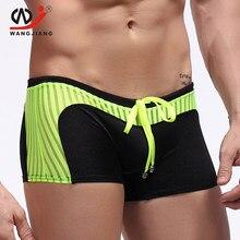 WJ hombres traje de Hombre Ropa interior de los hombres traje de baño bañadores Calzoncillos de Hombre Marca pantalones cortos de Spandex Bikini Cueca
