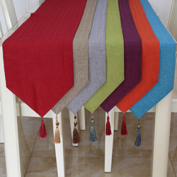Rustic Natural Jute Decor Tablecloth Imitated Linen Table Runner for Wedding Part Table Decornation 10 colors available