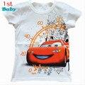 Hot la nueva primavera 2015 de grado superior de algodón de dibujos animados camisetas, los niños camisetas del desgaste de manga corta Camiseta del bebé