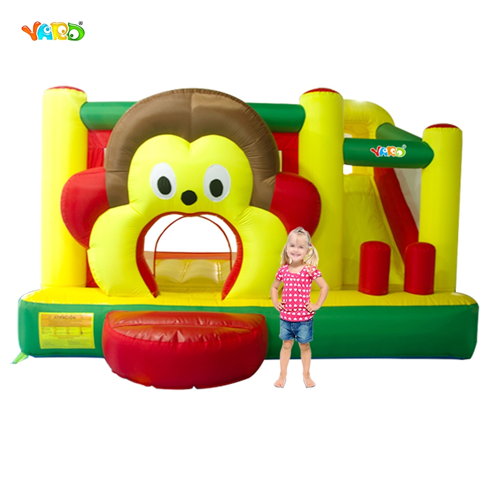 YARD Free Shipping Cartoon Monkey Inflatable Slide Bouncer Bouncy Castle Jumper Combo yard free shipping bouncy dream castle inflatable jumper bouncer 6 in 1 all round obstacle combo for home use