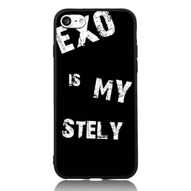 US $4 61 |EXO is my style Korea Star Music Art For iPhone 6 6s 7 Plus Case  TPU Phone Cases Cover Mobile Protection Decor Gift-in Half-wrapped Case