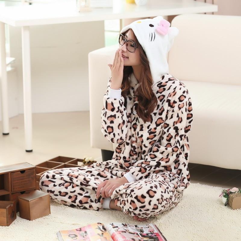 Anime Leopard Kitty Cute Cat Onesie Pyjamas Cartoon Animal Costume Adult Children Sleepwear Halloween Cosplay Jumpsuit Romper