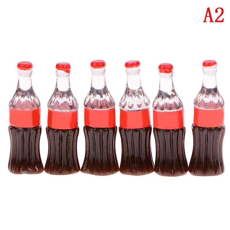 6 Pcs DIY Kitchen Coke Cola Bottle Himouto Fridge Drink Water KFC USA Statue Figurine Crafts Desk Ornament Miniatures Toy