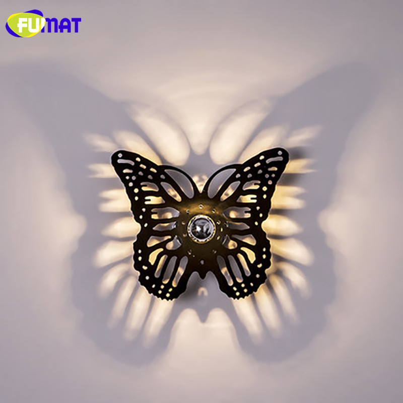 Здесь продается  FUMAT Simple Wall Lamps Restaurant Sconce Stairs Shadow Wall Light Creative Butterfly Wall Lamps LED For Bedroom  Свет и освещение