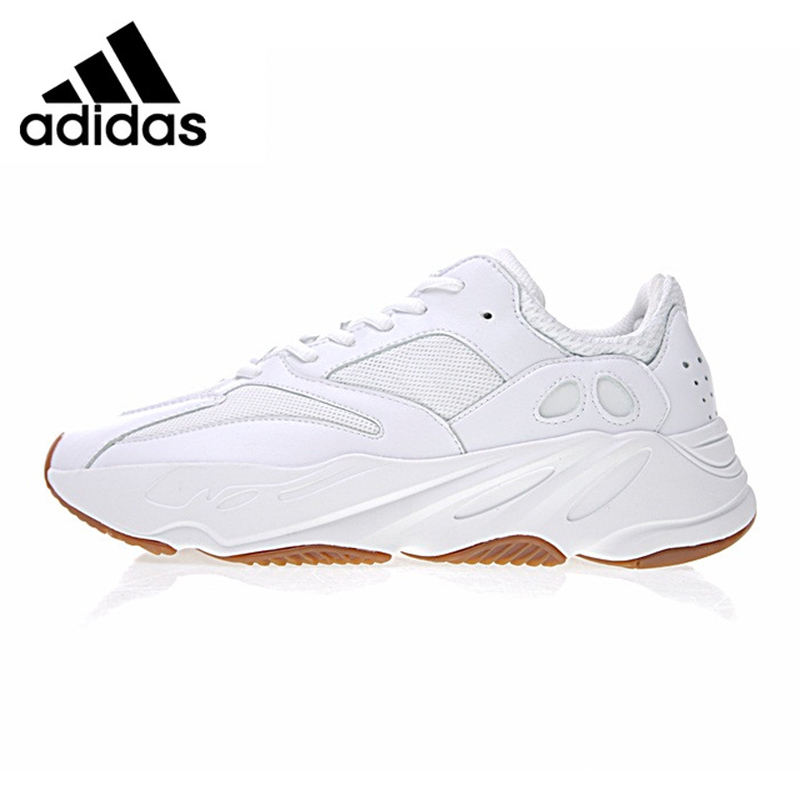 Best buy ) }}Adidas Yeezy 700 Men's Running Shoes, White/Black, Shock-absorbing Lightweight