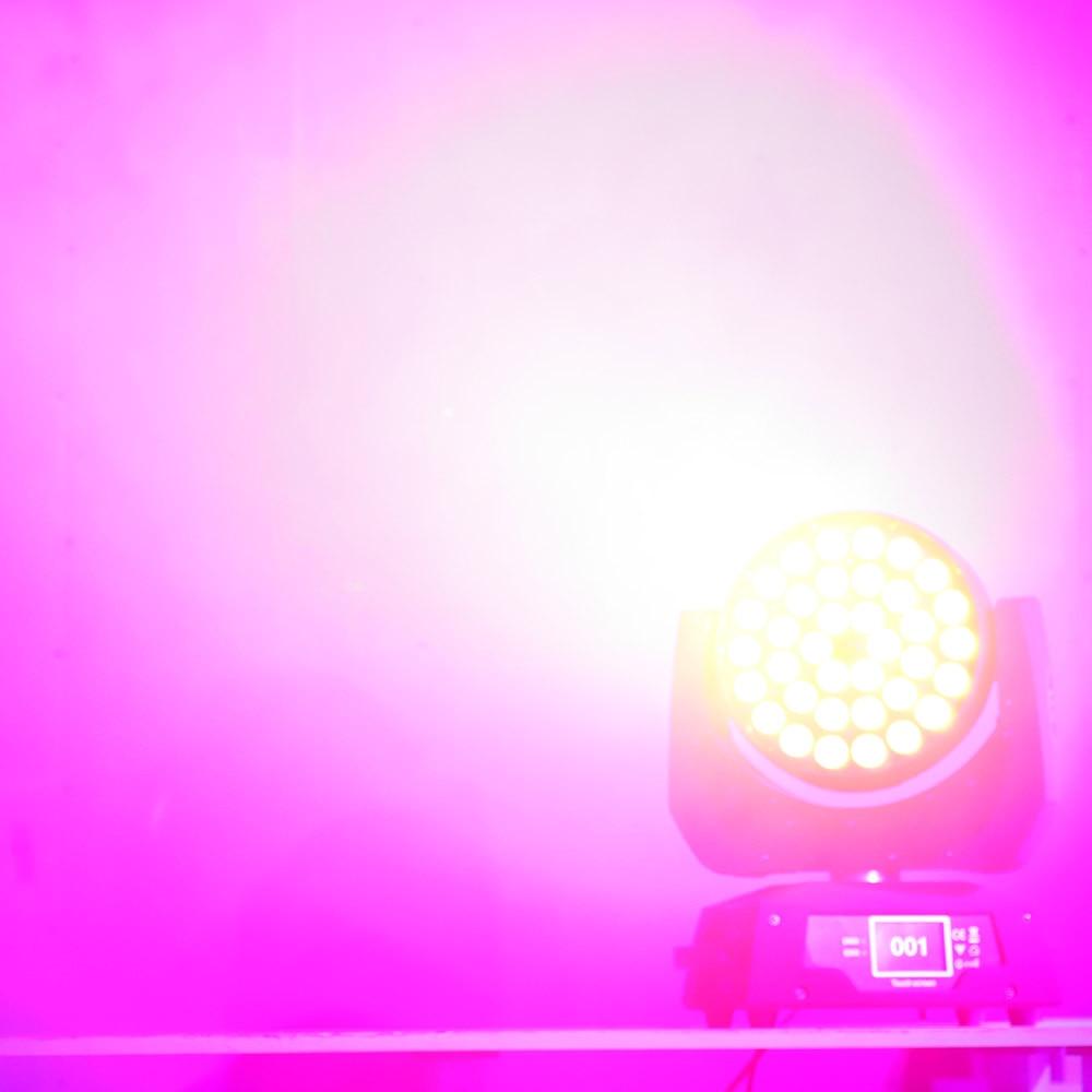 Stage Led Zoom Wash Moving Light 36x18w Rgbwa Uv 6in1 Wash Light For Big Theater Church Ballroom Dj