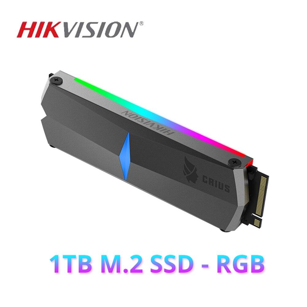 HIKVISION SSD M2 1 to 512gb 256gb 3500 mo/s C2000R SSD RGB lumière interne à semi-conducteurs pour ordinateur de bureau NVMe PCIe Gen 3x4