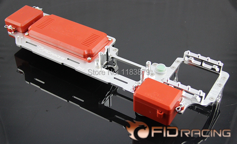 FidRacing Dual Servo radio tray V2 Losi 5IVE T Free Shipping fidracing baja rear up arm set for losi 5ive t