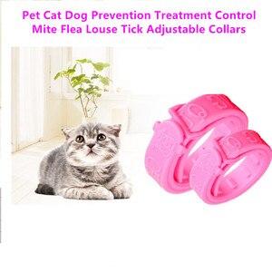 2pcs Prevent Flea Louse Pet Cat Collars Adjustable Treatment Tick Cat Kitten Necklace Choker Control Mite Pet Cat Neck Ring Gift(China)