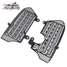 купить Motorcycle Radiator Guard Grill Cover Aluminum Protector for 2016 2017 2018 Honda CRF1000L CRF 1000L Africa Twin Accessories дешево