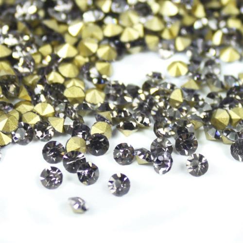 Black Diamond Color~SS20~SS40 Round Crystal loose Pointback rhinestones,Glass glue on Garment/Nail art Rhinestones карабин black diamond black diamond rocklock twistlock