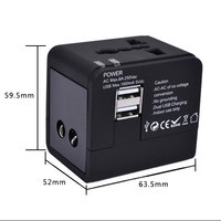 Electric Plug Socket Adapter International Travel Universal Adapter With Dual USB Power Charger Converter EU UK