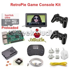 Raspberry Pi 3 32GB RetroPie Game Kit with Wireless Controller Gamepad Joystick & 10.1 inch 1366*768 LCD Monitor