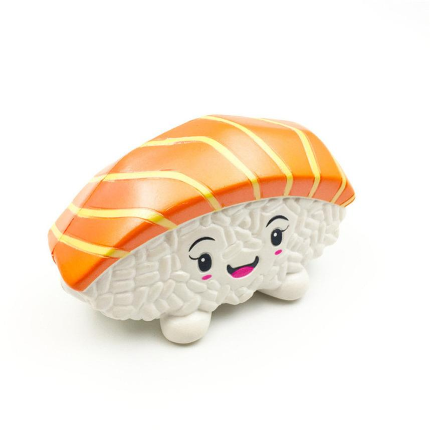 Cute Squishy Toys Stress Reliever Squishies Slow rising Jumbo Sushi Salmon Cake Antistresses 30S8510 drop shipping