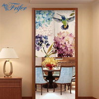 Canvas NOREN Japanese Style Door Curtains Birds Flower Door Screening Summer Tapestry For Store Kitchen 85x100