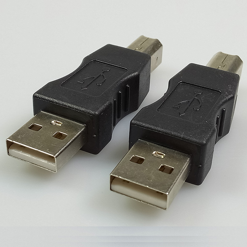 100pcs/lot USB 2.0 A Type Male Plug to USB B Type Male Plug Adapter USB A to B M/M Coupler Adapter USB Connector RICH TECH