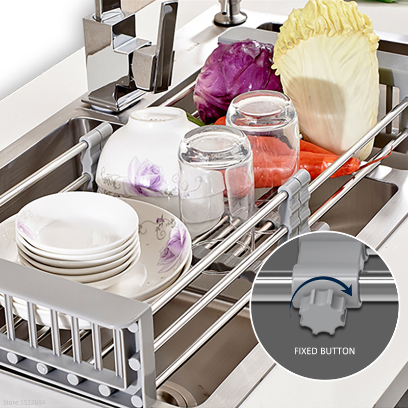 Aliexpress.com : Buy Adjustable Over The Sink Colander Dry Rack Pro Kitchen Sink  Dish Drainer Rack Collapsible Over Sink Dish Drainer Color Option From ...