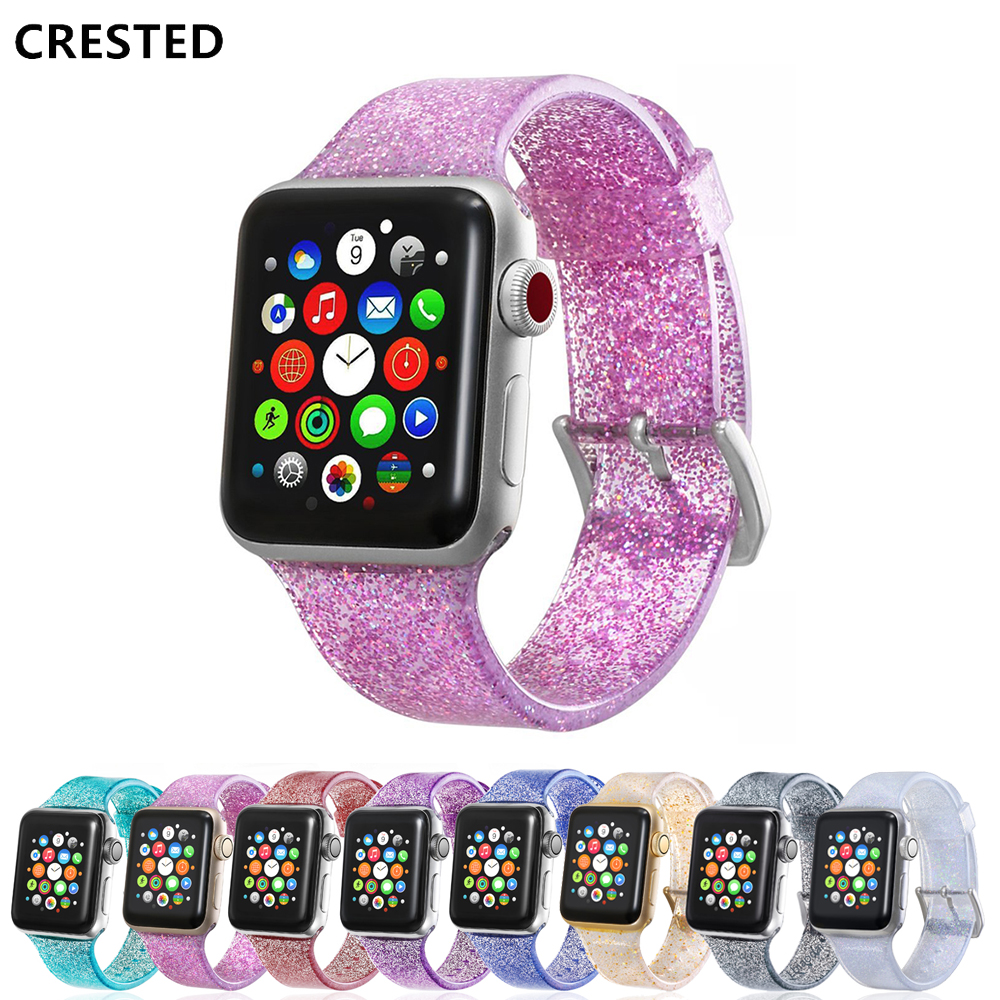 Strap for Apple Watch Band correa 38 mm 44mm 40mm iwatch band 42mm Silicone Bracelet watchband apple watch 4 3 2