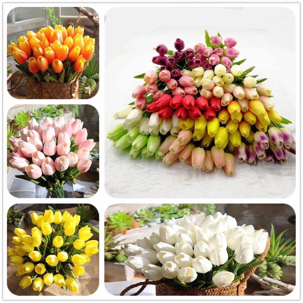 Male Falesne Tulipany Umela Vyzdoba Hedvabne Tulipany Umele Kvetiny