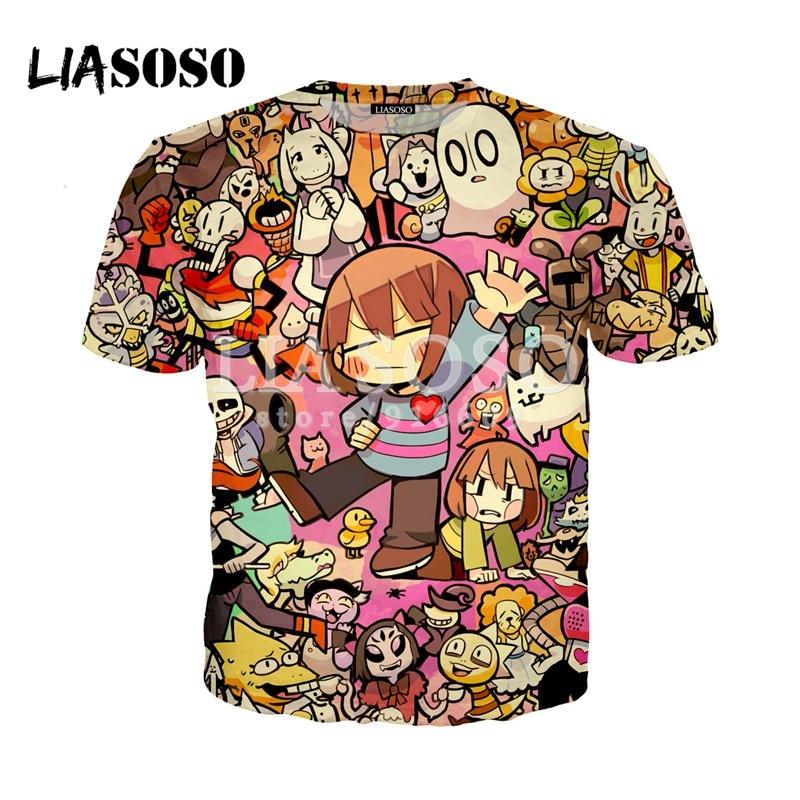 LIASOSO NEW Animation Skull Undertale Latest Game 3D Print   t     shirt  /Hoodie/Sweatshirt Unisex Hipster Good Quality Tops G1623