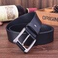 Новый стиль ремни для мужчин корова кожаный ремень мужской ceinture гладкая натуральная кожа, пряжка мода повседневная высокое качество