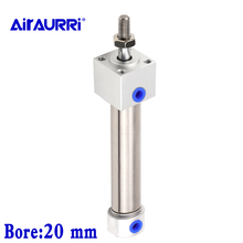 Mini Cylinder Double acting with cushion  bore stroke 20mm airtac size mm