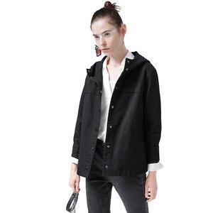 Image 2 - Toyouth back 스트라이프 폭격기 자켓 여성용 새 숏 코트 빈티지 패치 워크 후드 아웃터 코트 루스 코튼 chaqueta mujer