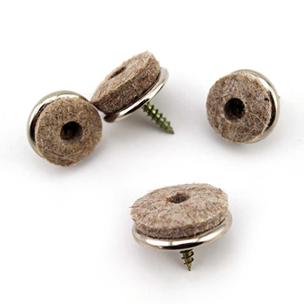 1 pçs novo pesado feltro pés almofada skid glide móveis cadeira mesa perna diy protetor de unhas para casa 22/24/28mm