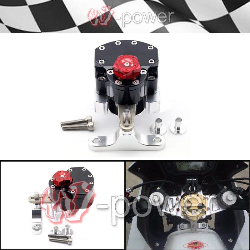 фит для Honda CBR400R CBR500R CBR с 400р /500р 2013 2014 2015 черный мотоцикл Регулируемая рулевая демпфер Стабилизатор с кронштейном