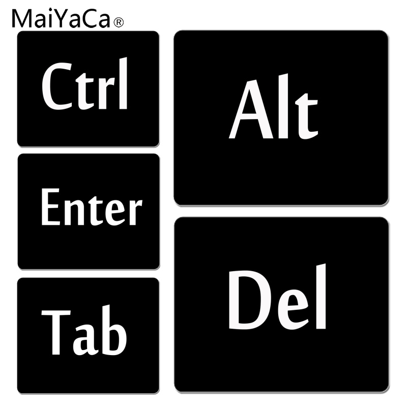 MaiYaCa New Design Letter on computer keyboard Comfort Mouse Mat Gaming Mousepad Size for 180x220x2mm Rubber Mousemats