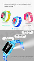 SOS Button calling geo fence touch screen with camera and flashlight kids gps watch
