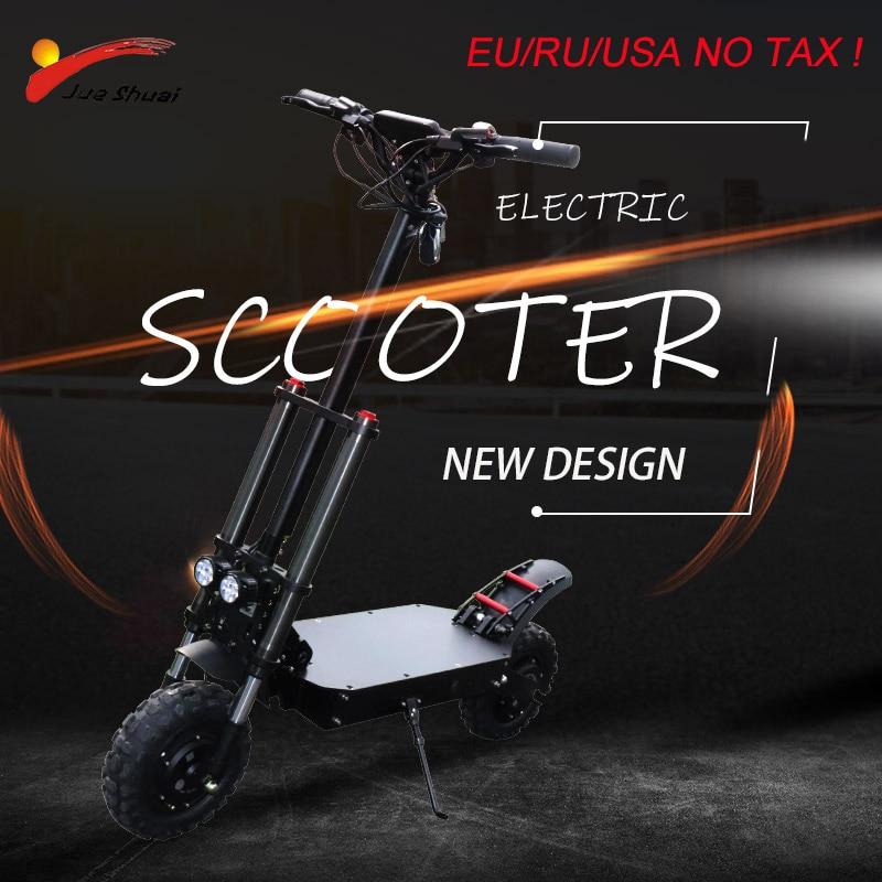 """Longue Distance 105km Scooter électrique 11 """"80 km/h roue de moteur 35AH batterie au Lithium adulte pliable Longboard Hoverboard planche à roulettes"""
