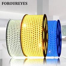 Bande Flexible, 220V Led, étanche IP65, 3014 SMD 120 Led s/M, blanc chaud, décoration intérieure et extérieure, plat LED