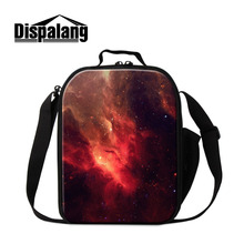 Dispalang Galaxy Печати Дети Обед Сумки Изоляцией Lunchbag Дети Тепловой Мешок Еды Cooler School Lunch Box Lancheira Termica