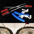 3 x Herramienta de Palanca Del Neumático Spoon Motocicleta Neumático Cambiante + 2 x Protectores de Borde de la Rueda De Hierro Amarillo