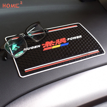 Car Styling PVC Non-slip Mat Phone Glasses Auto Anti-Slip Pad for Mugen Logo Honda H-RV Nsx Pilot Fit CRZ Insight Spirior