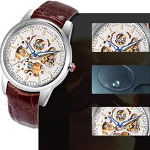 2017 Dignity 1PC Men's Hcandice Fashion Leather Band Mechanical Wrist Watch Watches JUN 8