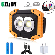 Portable LED Flashlight COB Work Light Floodlight Searchlight Waterproof USB Rechargeable Power Bank For outdoor lighting