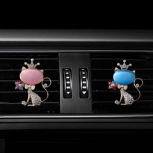 Fox style car air freshener perfume bottle diffuser  in the auto Air conditioner outlet vent Perfume clip