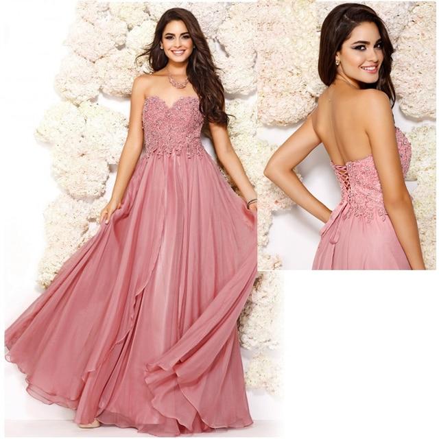 Rosa polvoriento   amarillo fuera del hombro encaje gasa vestidos noche con  rebordear vestidos formales largos 60ac54ac9e82
